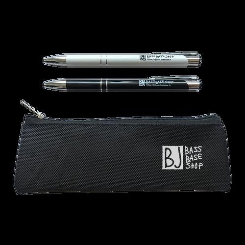 (※新作6/20発売)BJ bass base shop オリジナルボールペン【ロゴ入り2本セット。ペンケース付き】初回数量限定
