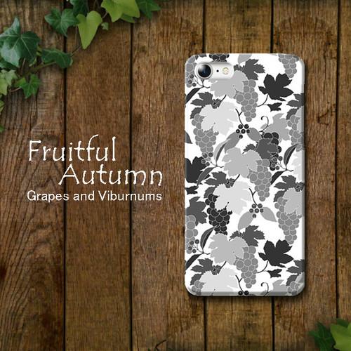 Fruitful Autumn 葡萄柄 shade スマホケース ハード iPhone/Android