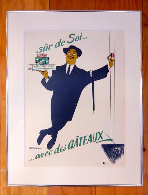 """""""Sur de soi... avec des GATEAUX!"""" By Raymond Ducatez 1956 400×295"""