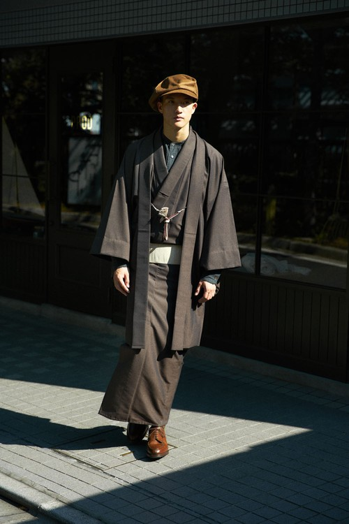 きもの / Silk-wool / Dark brown(With tailoring)