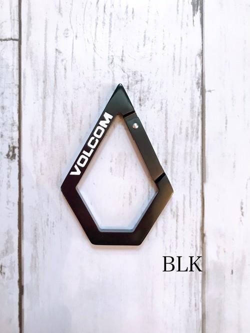 D67320JA ボルコム Volcom Karabiner キーホルダー BLK 黒 カラビナ メンズ おしゃれ