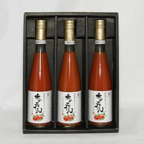 トマトジュース 食塩無添加濃厚トマトジュース 赤の元気 500ml 3本 化粧箱入り