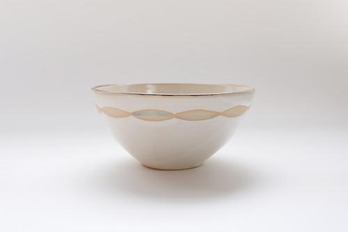 アラン白 茶碗(外)
