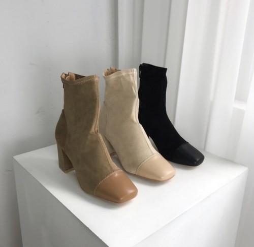 予約注文商品 トゥーポイントスエードアンクルブーツ アンクルブーツ ブーツ 韓国ファッション
