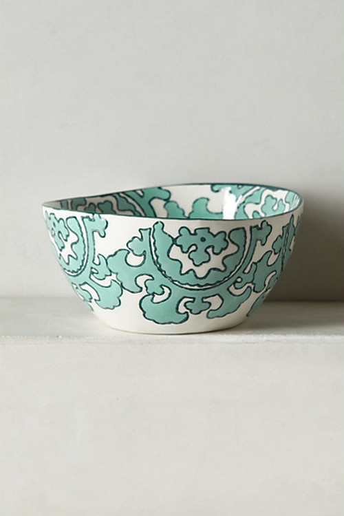 ANTHROPOLOGIE //  Gloriosa Bowl -green