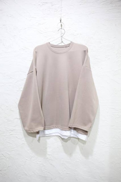 Layered Beige Sweat