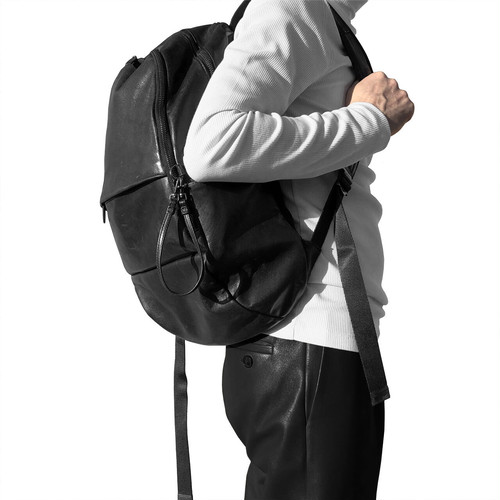 172ABG03 Leather backpack 'round double F' バックパック/リュック