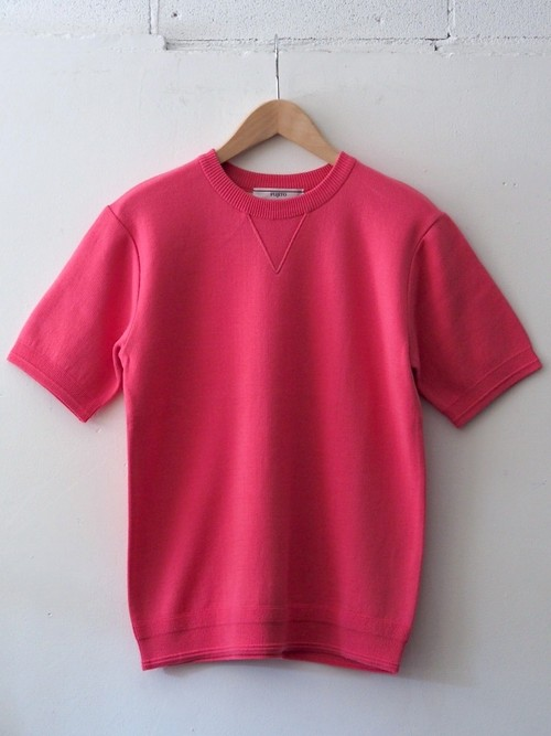FUJITO H/S Crew Neck Sweater 'Director限定' Pink,Top Gray,Navy