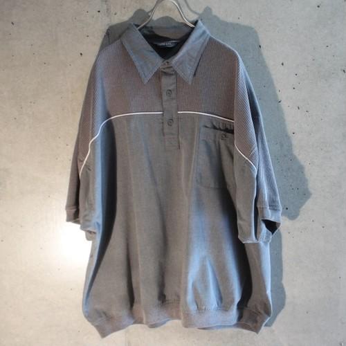 Short Sleeve Design Rib Polo Shirt