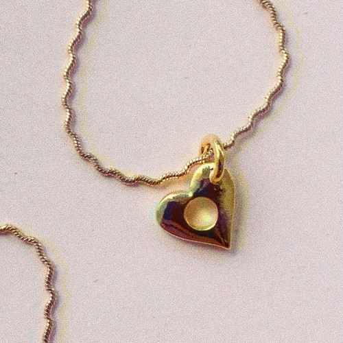 HEART HOLE Necklace #1777 gold