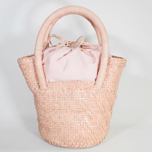 PAOLO MASI 牛革メッシュバケツ型ハンドバッグS