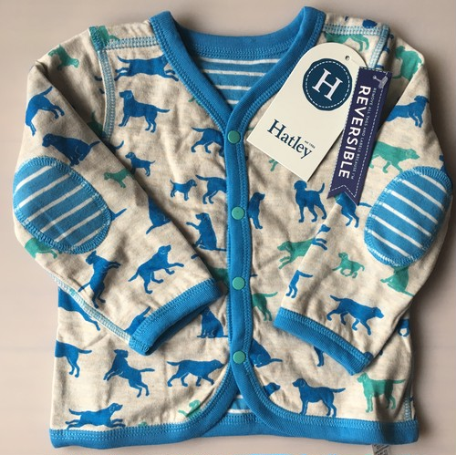 SALE Hatley Pup play Reversible mini Cardigan リバーシブルカーディガン