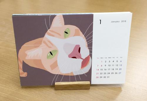 2018 オリジナル 卓上ネコカレンダー