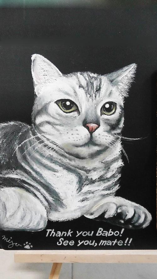【ペットの似顔絵】 20cm正方形・フルオーダー