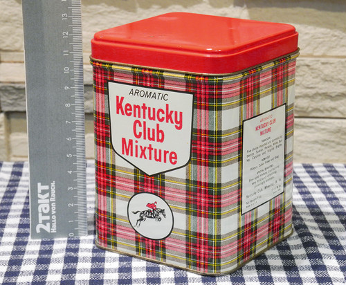 【Vintage/Used品】Vintage tin Kentucky Club Mixture  ヴィンテージ缶/156