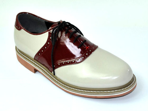 【Reguler Line】SADDLE SHOES BEIGE/RED KE2533