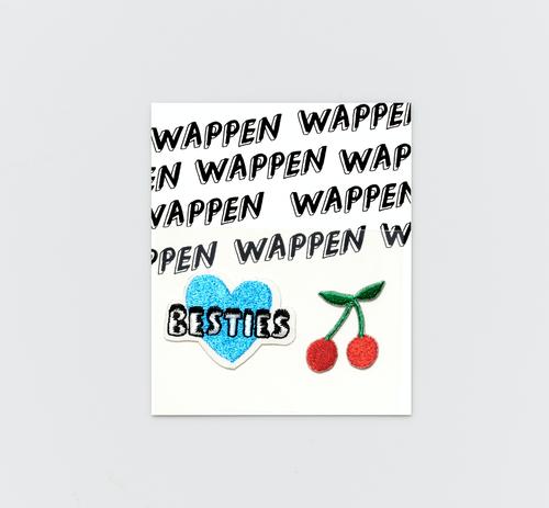 Walnut 刺繍パッチステッカー BESTIES & CHERRY