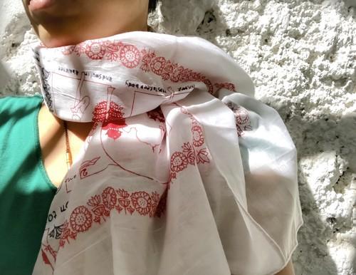 Asana shawl square