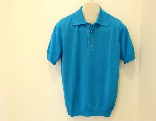 Blu Bre Knit Polo Shirt Turquoise