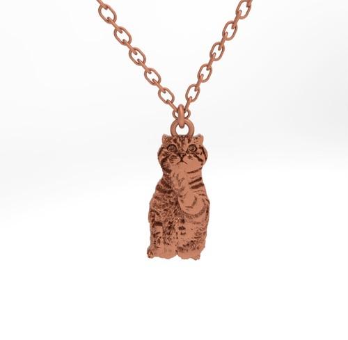 ティノ HOKUSHIN ネックレス シルバー925 ピンクゴールド チェーン付 猫 ネコ ねこ