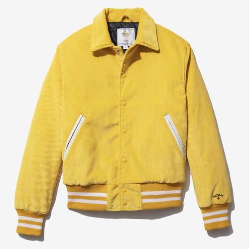 Corduroy Varsity Jacket(Lemon)