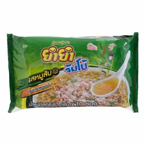 インスタントヌードル ヤムヤム ジャンボ ポーク味 / Instant Noodles Yum Yum Jumbo Minced Pork Flavour ×1パック(10袋入り)