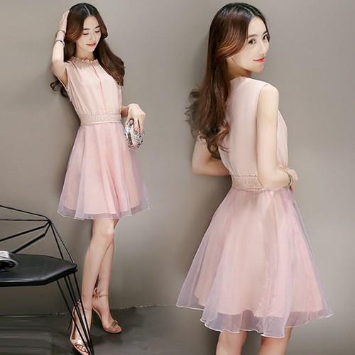 ウエストマーク ドレス ワンピース L〜2XL 2color フェミニン 結婚式 お呼ばれ