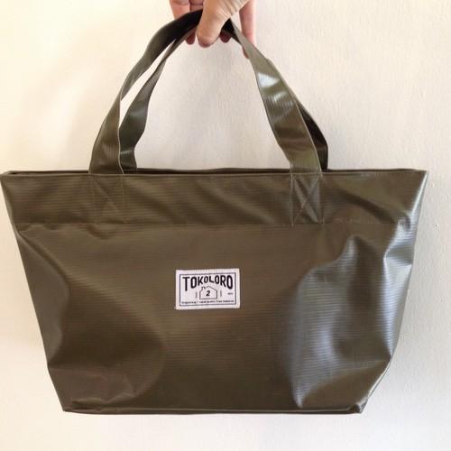 Tarpaulin Daily Tote Bag【khaki】