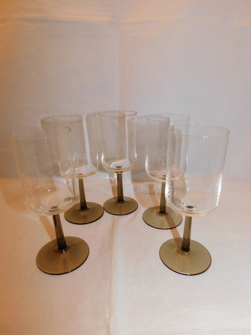 硝子シャンパングラス(5客)five champagne glasses(made in Japan)