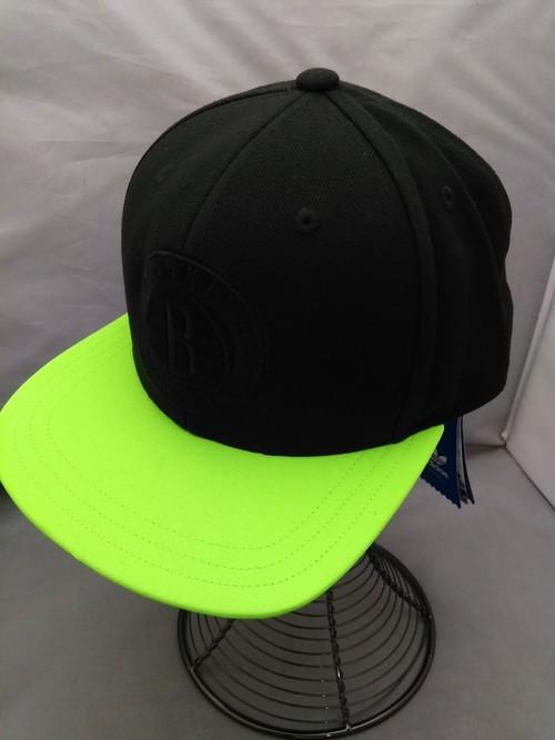 アディダス キャップ 帽子 黒 NBA ブルックリンNY u1218a
