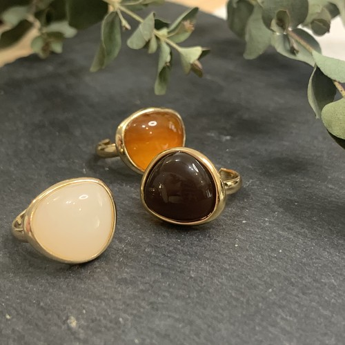natural stone ring(3colour)