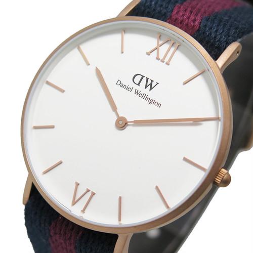 ダニエルウェリントン 腕時計 GRACE LONDON 36 ローズゴールド 0551DW ホワイト
