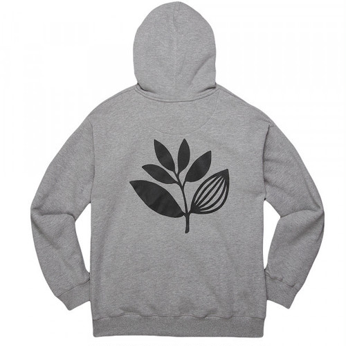 MAGENTA PLANT HOODIE CLASSIC HEATHER GREY M マゼンタ パーカー