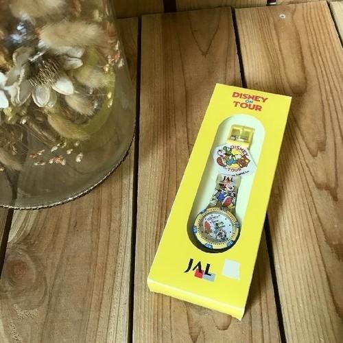 ≫レア希少箱付き未使用*日本航空JAL×Disneyディズニーオンツアー*古いミッキーマウスミニー腕時計*ペンケース付*ヴィンテージビンテージ