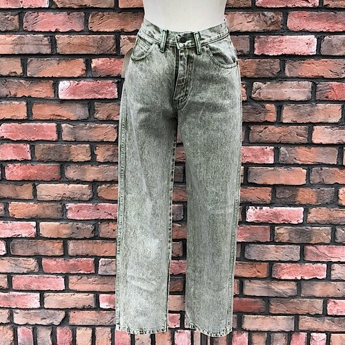 1990s Deadstock Europa Comfort Fit Jeans Green Made In England W28