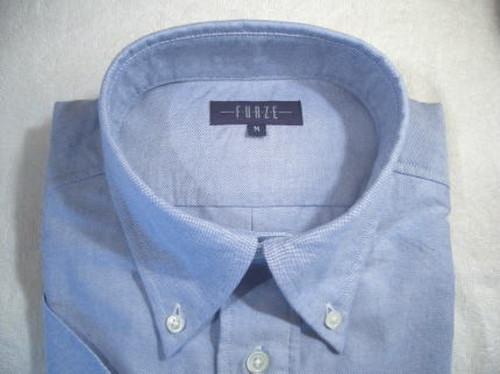 BD 半袖 プルオーバー オックスフォード無地 ブルー  クラシックスタイル FEH9006-C25