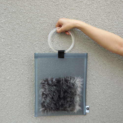 anti clone『hard tulle bag  GY/グレーミックス』