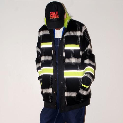『RAKI』 1off Fake fur work coat