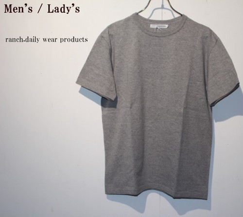 ranch.daily wear products 度詰め天竺半袖クルーネック(GRAY) 【Men's】
