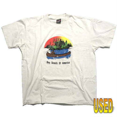 USED TEE ユーズド Tシャツ 『FRUIT OF THE LOOM』90年代  MADE in USA【pru0028-wht】XL