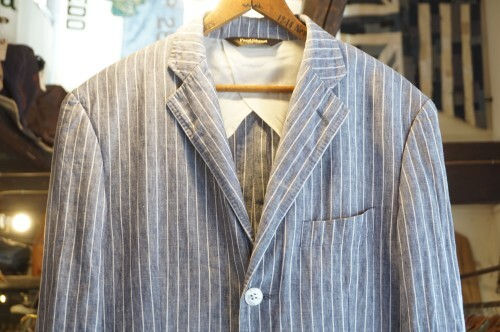 "90's Paul Stuart striped linen Jacket ""FRATELLI ORMEZZANO"""