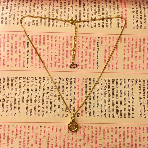 "Christian Dior  ""CD"" logo necklace"