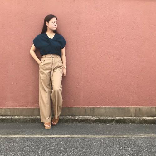 portcros/ベルト付きワイドパンツ