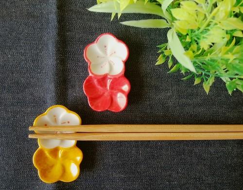 箸置きペアセット「和風の花」