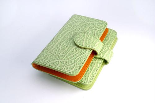 牛革製メロンなスマホケース(Mサイズ)iPhone 6 6s 7 8 多機種対応