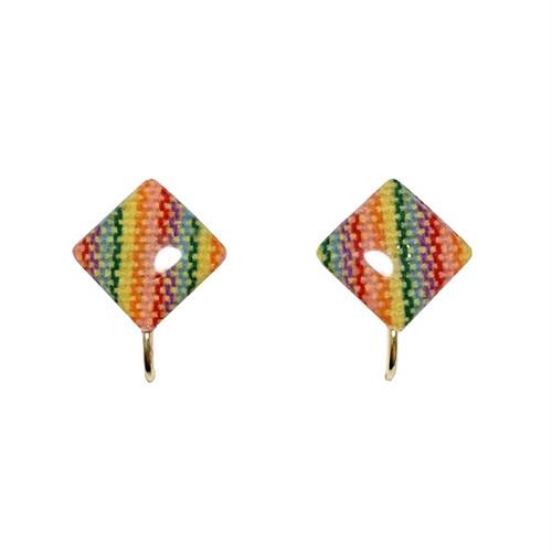 手織り三河木綿イヤリングB /pom by Je brille/伝統と現代が織り成す三河木綿アクセサリー