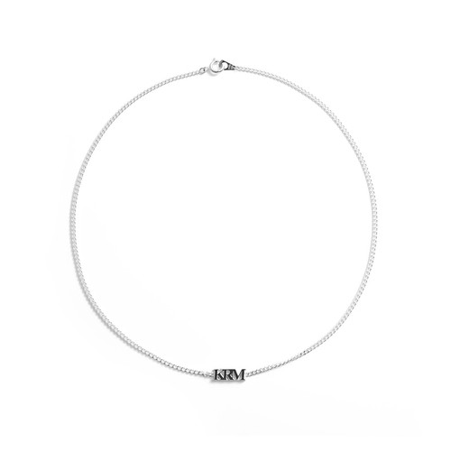 ❰ New ❱ KRM logo charm silver necklace