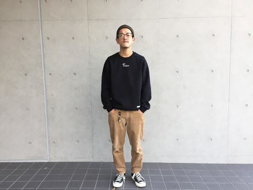 f-18ts0001o frasco neck logo sweat