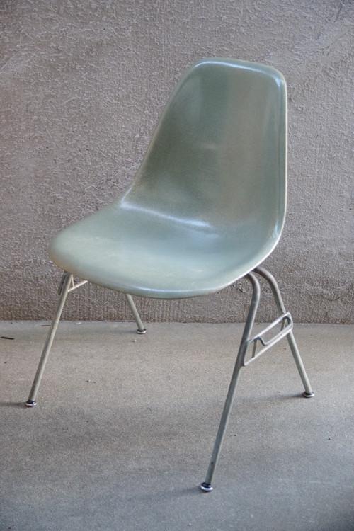 50~60's 椅子 HERMAN MILLER ハーマンミラー イームズ サイドシェル チェア(HERMAN MILLERシールあり)Light Blue(Robins Egg Blue)