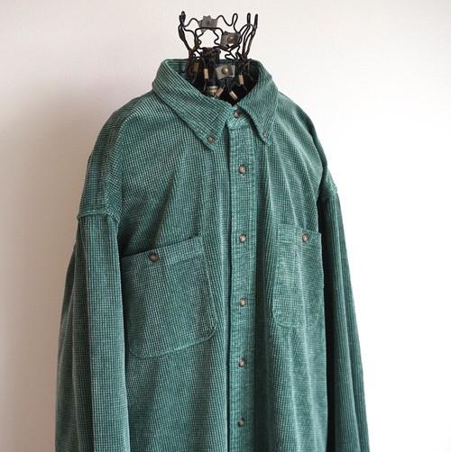 [Cabela's] エンボス コーデュロイシャツ グリーン 表記(XL)